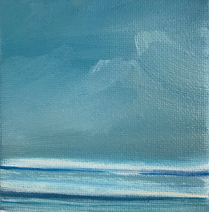 'Little Clouds' (Oil on canvas) 8 x 8 cm