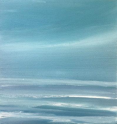 'Moonstone' (Oil on canvas) 10 x 10 cm