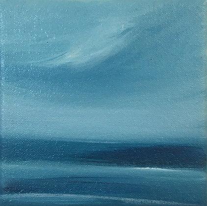 'Gentle Shores' (Oil on canvas) 15 x 15 cm