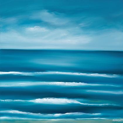 Turquoise Tides (medium print)