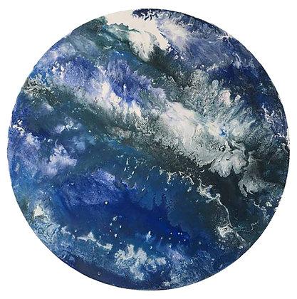 'Neptune' (Acrylic on canvas) 40 cm diameter