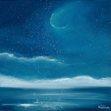 'Once in a Blue Moon' (Print) 17 x 17 cm