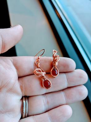 Small Carnelian Earrings
