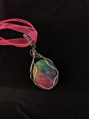 Large Rainbow Quartz Pendant (back)