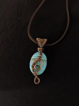Small Maeve Pendant - Blue Agate