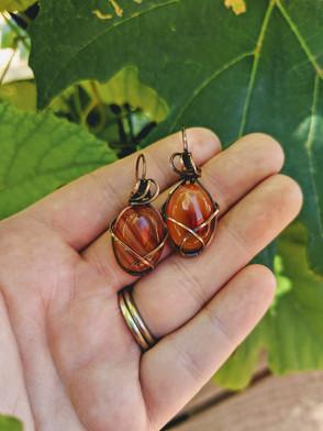 Medium Carnelian Earrings
