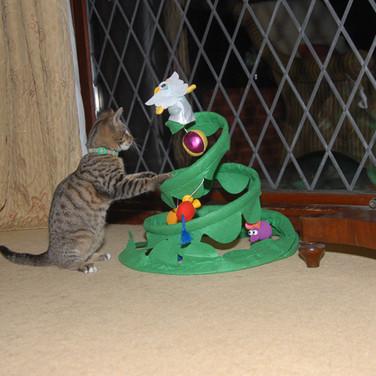 Cat's Christmas tree