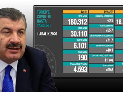 Türkiye'de koronavirüs bilançosu: 30 bin 110 yeni vaka