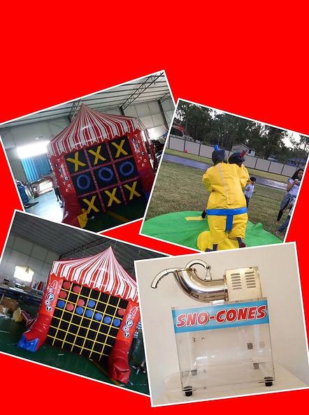 sumo suits, sno cone machine, inflatable, jumping castle, party hire sydney