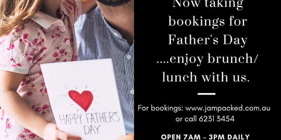 Fathers Day Sunday 5th September 7am-3pm