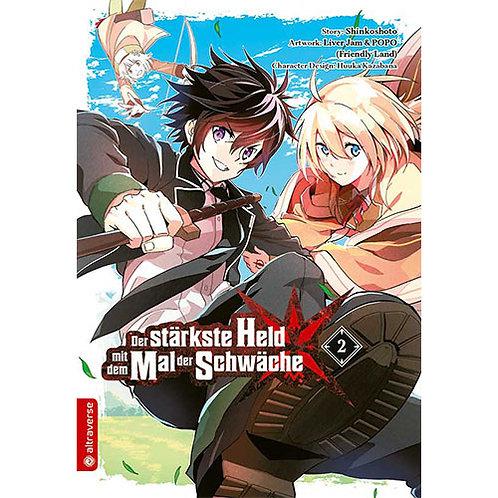 Der stärkste Held mit dem Mal der Schwäche - Band 2 (Manga | altraverse)