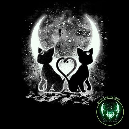 "Moon Cats - ""Glow In The Dark"" (T-Shirt | Unisex S - 2XL)"