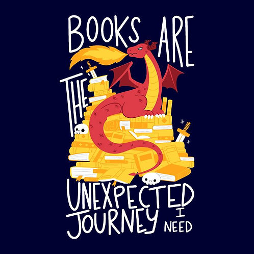 Book Dragon (T-Shirt | Ladies S - XL)