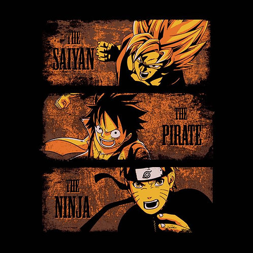 The Saiyan, The Pirate, The Ninja (T-Shirt - Unisex S - 2XL)