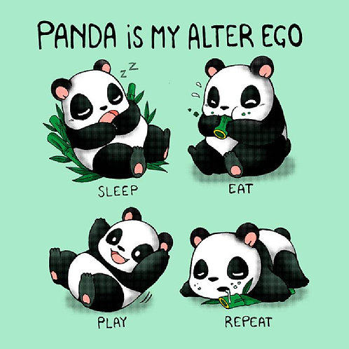 Panda Is My Alter Ego (T-Shirt - Ladies S - XL)
