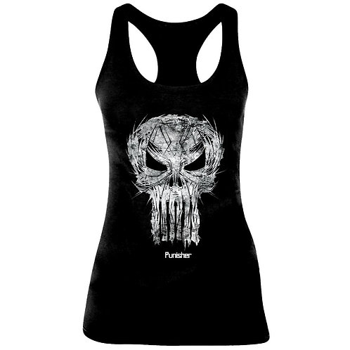 Punisher - Skull Sketch - Marvel (Tanktop - Ladies)