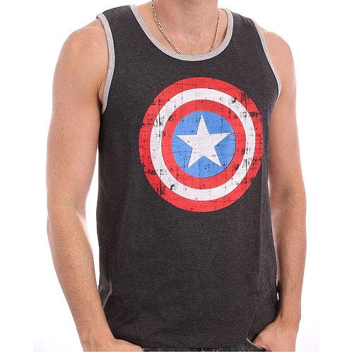 Captain America - Shield Logo - Marvel (Tanktop - Unisex)