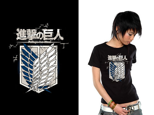 Attack On Titan - Crew Logo (T-Shirt - Ladies)