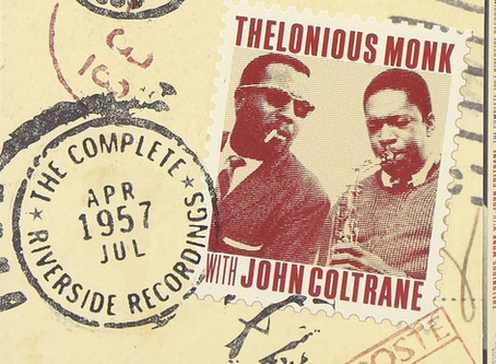 "Monk e Coltrane, encontro de gênios do Jazz em ""The Complete 1957 Riverside Recordings""."