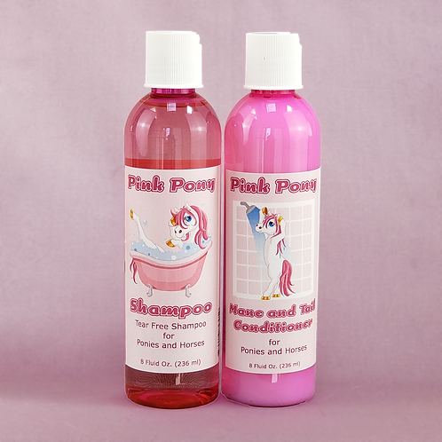 Pink Pony Shampoo and Conditioner Set