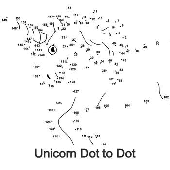 Unicorn Dot to dot