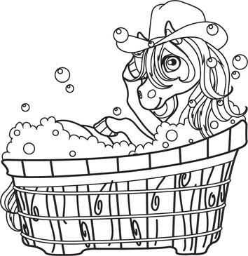 Roanie Pony Tub