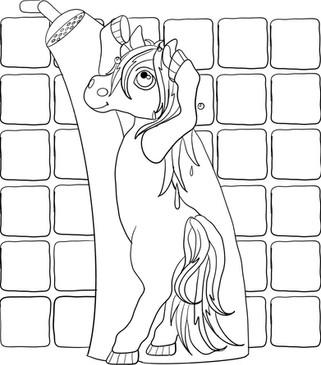 Roanie Pony Shower