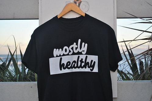 Mostly Healthy Logo Tee (Black)