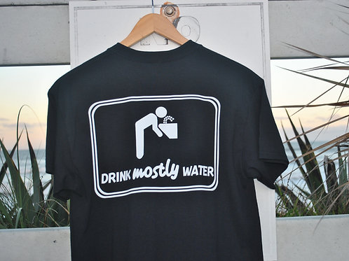 Mostly Water Logo Tee (Black)