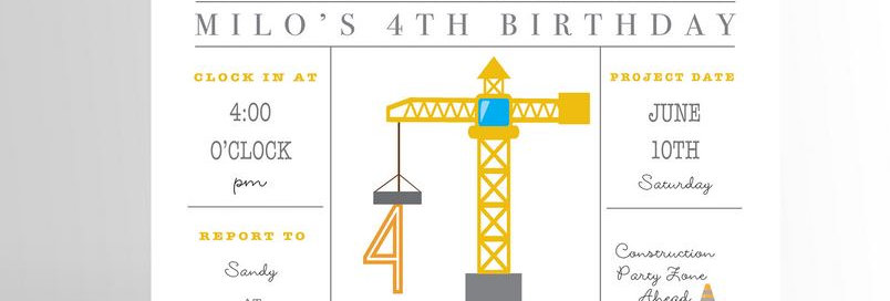 Modern Construction Party Invitation V2