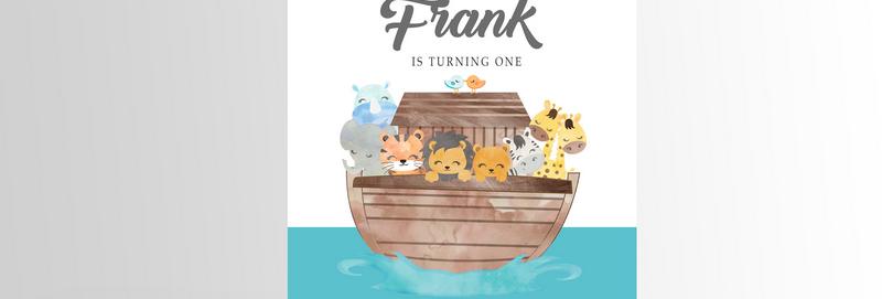 Noah's Ark Party Invitation