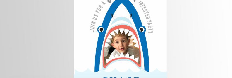 Modern Shark Invitation Picture