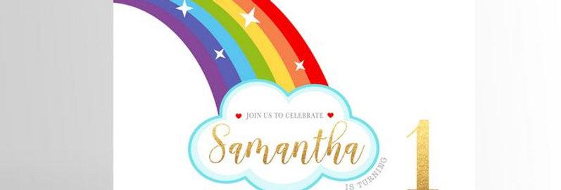 Rainbow Party Invitation V2