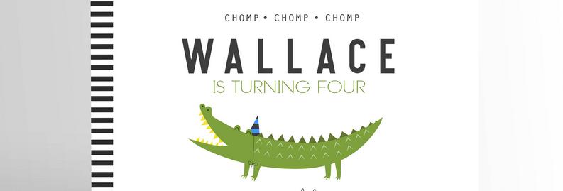 Crocodile/Alligator Invitation V2