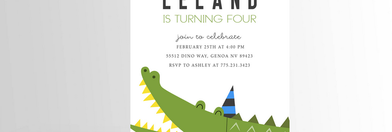 Crocodile/Alligator Invitation V4