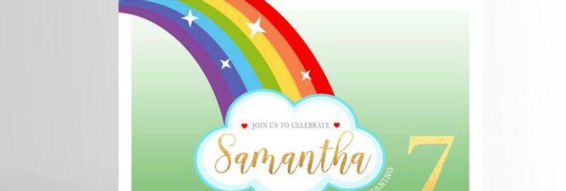 Modern Rainbow Party Invitation