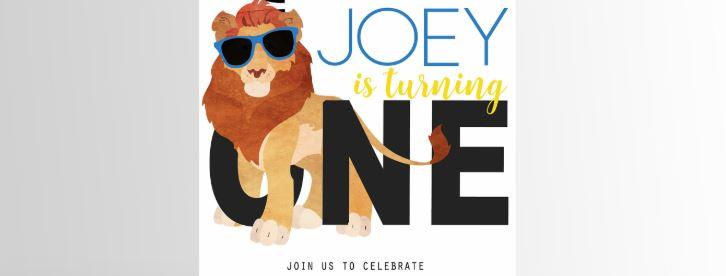 Party Animal Invitation Lion