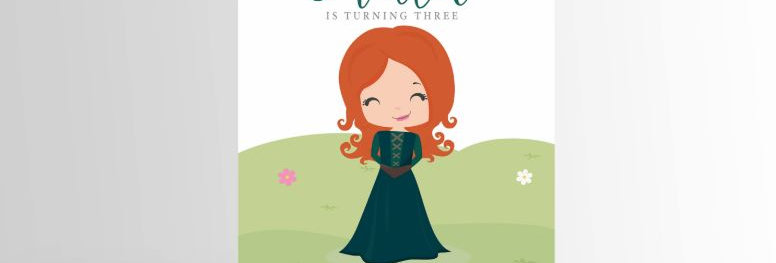 Modern Princess Invitation Merida V3
