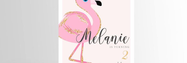 Baby Flamingo Invitation V2