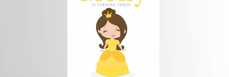 Modern Princess Invitation Belle
