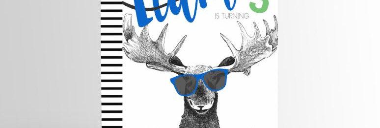 Party Animal Invitation Moose V2