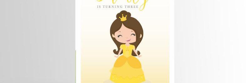 Modern Princess Invitation Belle V2