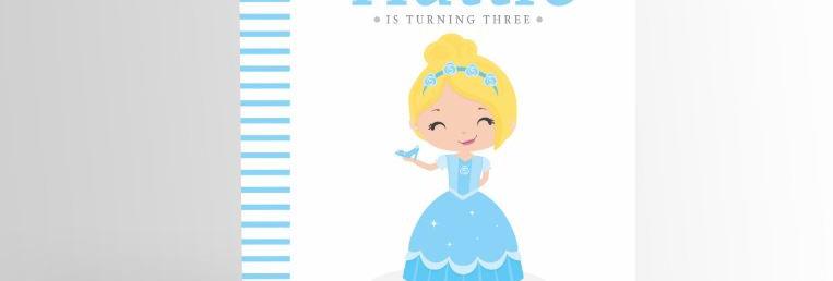 Modern Princess Invitation Cinderella