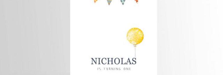 Simple First Birthday Invitation
