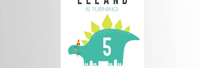 Modern Dinosaur Invitation V3