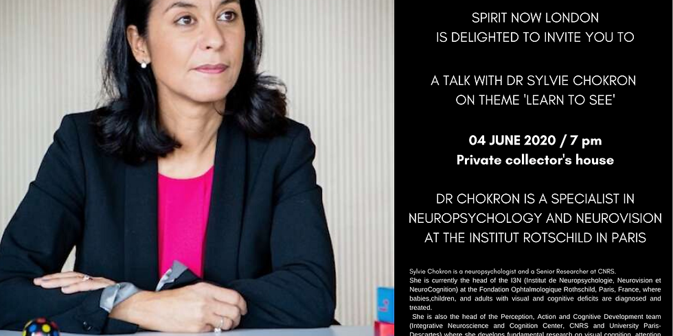 POSTPONED | Talk with Dr Sylvie Chokron on theme 'Learn to see'