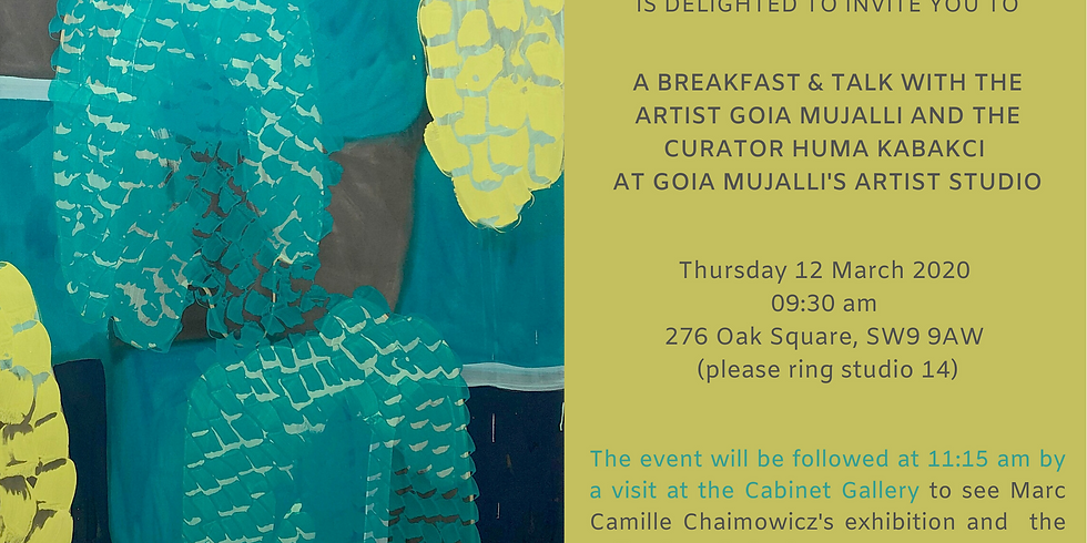 Breakfast & talk at Goia Mujalli artist's studio