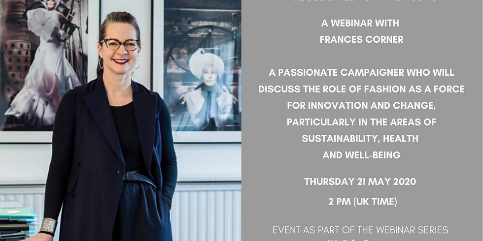 Webinar with Frances Corner in partnership with WeRtheFuture (the youthplatform of Art Action Change)