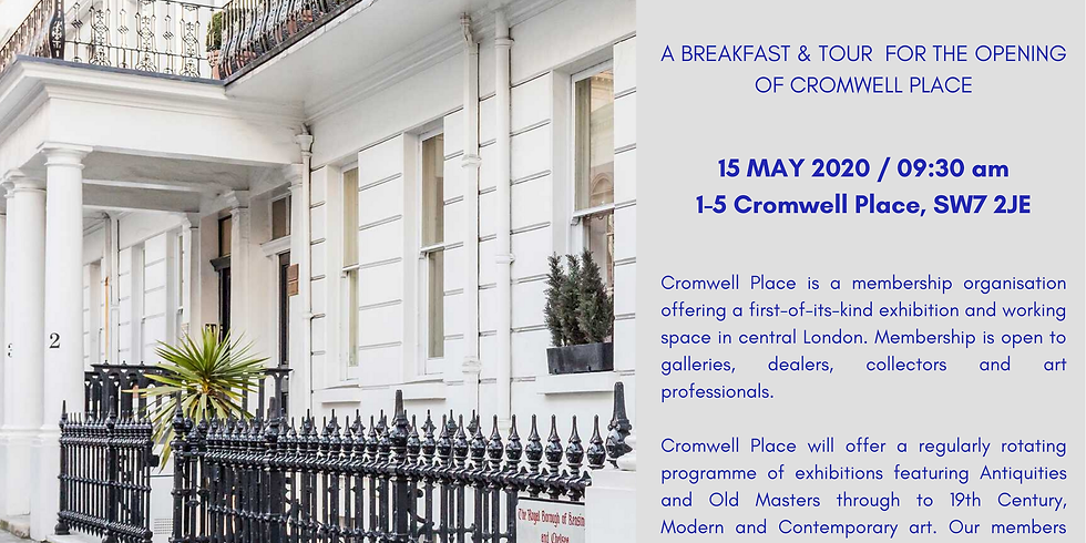 POSTPONED | Breakfast & tour for the opening of Cromwell Place