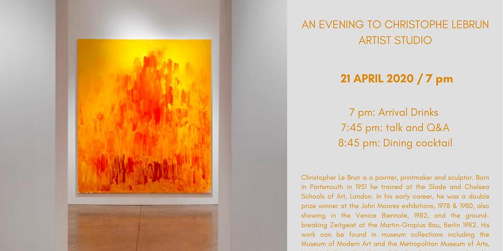 POSTPONED | An evening to Christophe Lebrun artist studio